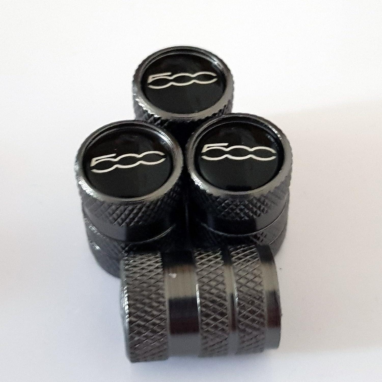 Speed Demons La soupape de Fiat 500 Gris Alliage Roue Bouchons de Protection pneumatique avec int/érieur en Plastique pour Tous Les mod/èles de Feuilles Anti-adh/ésives
