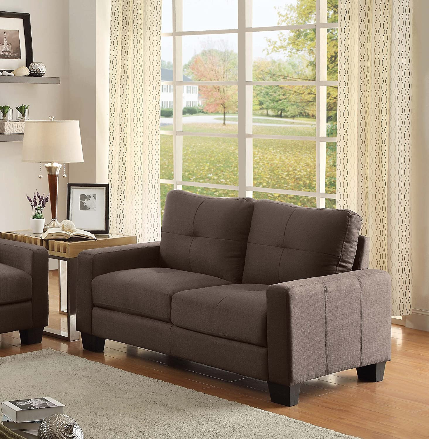 Amazon Homelegance 8518 2 Upholstered Loveseat Brownish Grey
