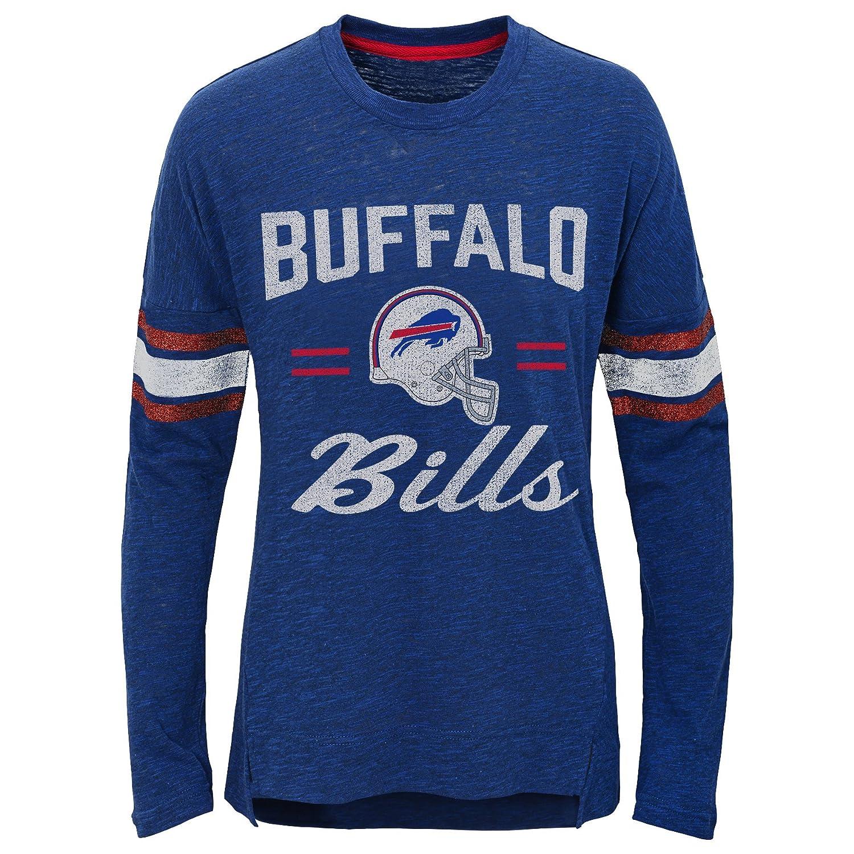 Outerstuff NFL Buffalo Bills Youth Boys Team Captain Long Sleeve Slub Tee Royal Youth Small 7-8