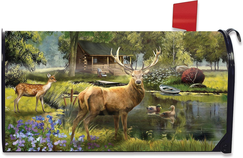 Briarwood Lane Great Outdoors Summer Magnetic Mailbox Cover Elk Standard