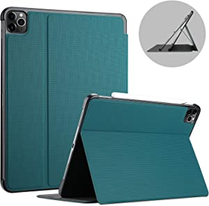ProCase iPad Pro 11 Case 2nd Generation 2020 & 2018 [Support Apple Pencil 2 Charging], Slim Stand Protective Folio Case Smart Cover for iPad Pro 11 Inch 2020 2018 Release -Teal