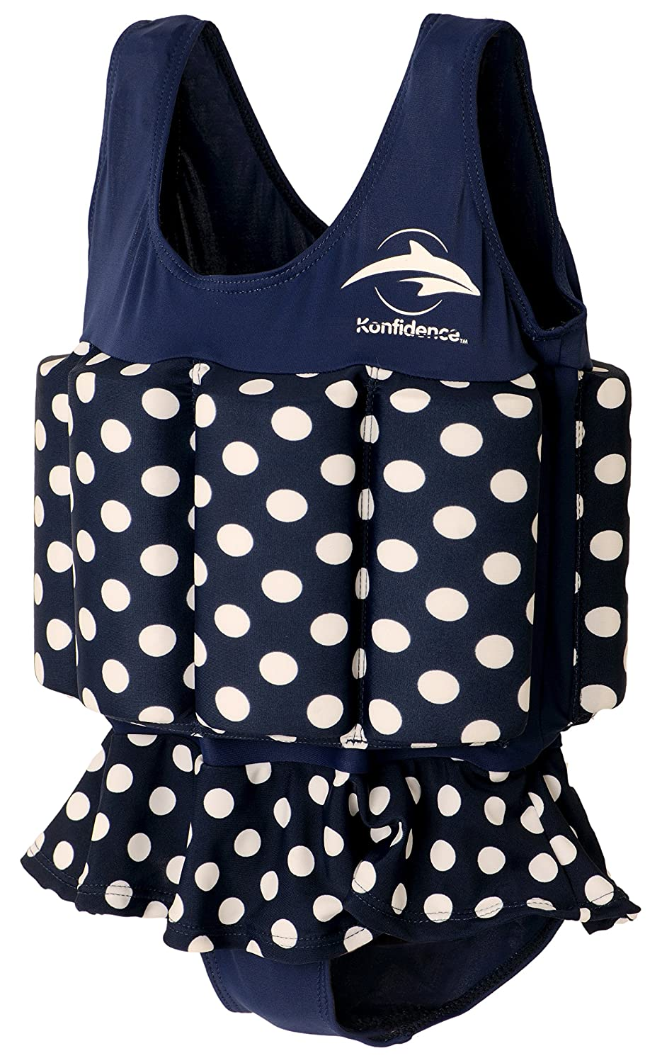 Konfidence Girls Floatsuit Polka Dot 4-5 Years Navy FS04-B-05