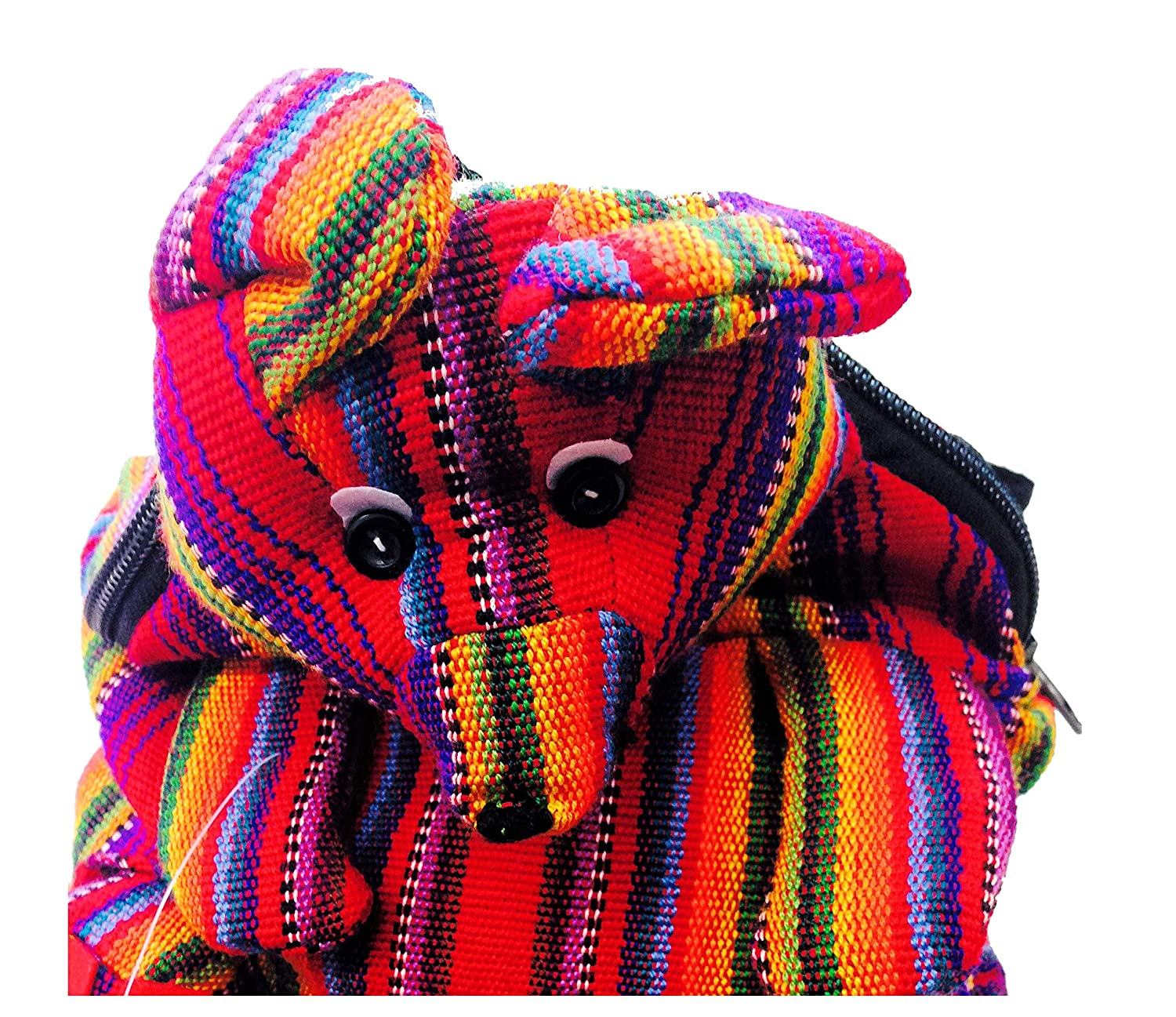 FAIRTRADE HIPPY MULTICOLOURED GUATEMALAN ANIMAL BAG PURSE travel backpack m33