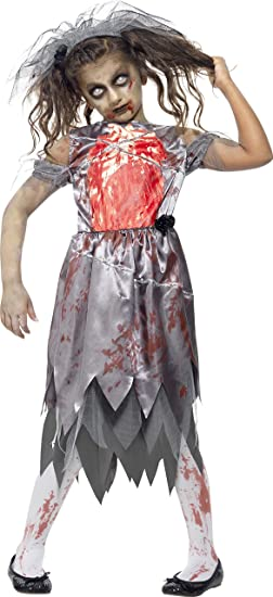 Charming Large Girls Zombie Bride Costume