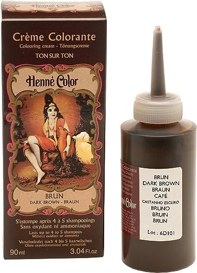 Henné Color - tinte de henna para el cabello, marrón oscuro, 90 ml