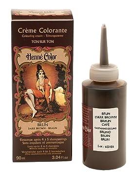 Henne Color Tinte De Henna Para El Cabello Marron Oscuro 90 Ml