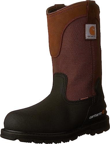 "Carhartt Men's Wellington 11"" Steel Toe Pull-On Work Boots"