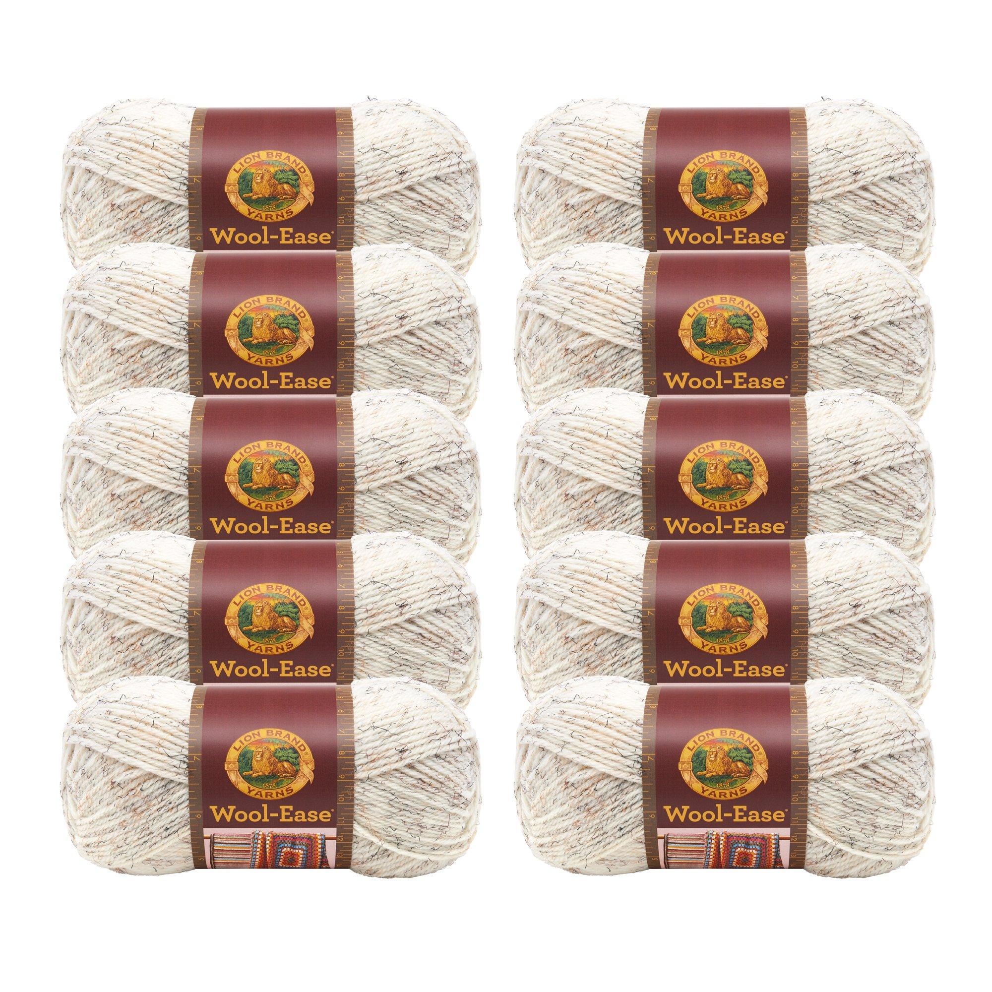 (10 Pack) Lion Brand Yarn 620-402 Wool-Ease Yarn, Wheat