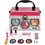 Girls Cosmetic Makeup Set In a Sturdy and Long Lasting clear case, Mirror included