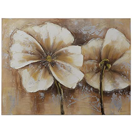 Amazon Com Yosemite Home Decor Fcc4812 2 Full Bloom 2 Painted Wall