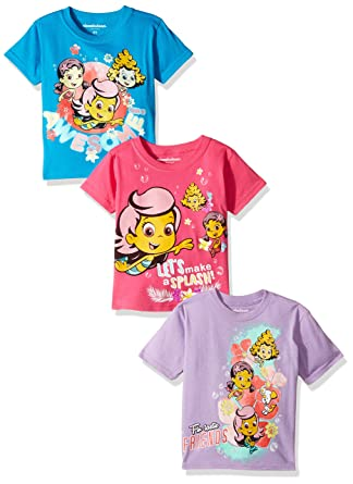 ab4ba7440a Amazon.com  Nickelodeon Girls  Toddler Bubble Guppies G 3-Pack Short ...