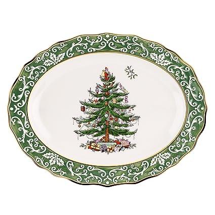 Spode Christmas Tree Embossed Platter, Large, Gold - Amazon.com: Spode Christmas Tree Embossed Platter, Large, Gold