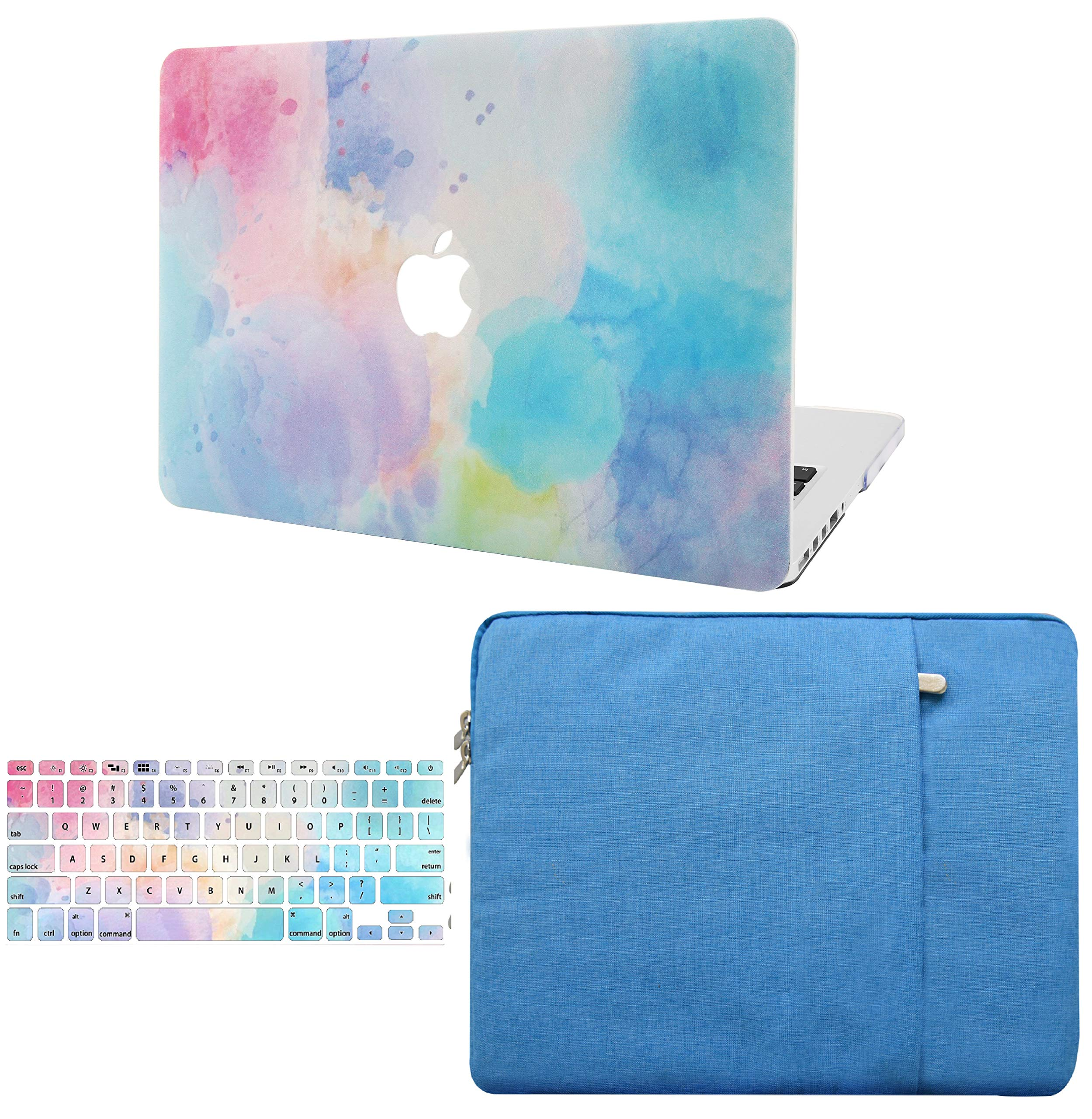 KEC Laptop Case for MacBook Air 13'' w/ Keyboard Cover + Sleeve Plastic Hard Shell Case A1466/A1369  3 in Bundle (Rainbow Mist 2)  by KEC (Image #1)