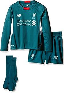 734114338ec New Balance Liverpool FC Away Junior Short Sleeve Jersey-White Red Print