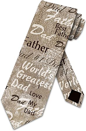 Fathers Day Ties Mens Best Dad Ever Neckties Worlds Greatest Daddy Tie by Three Rooker