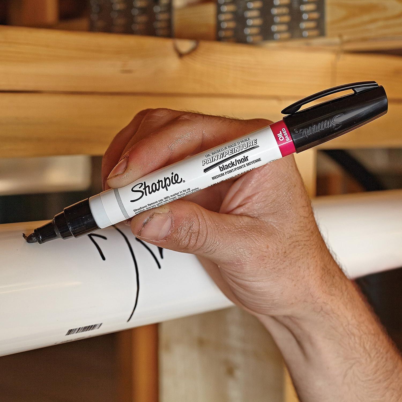 Marcador permanente DYMO Oil-Based Paint Marker Medium Point Negro Negro, Multicolor, De pl/ástico, Medio