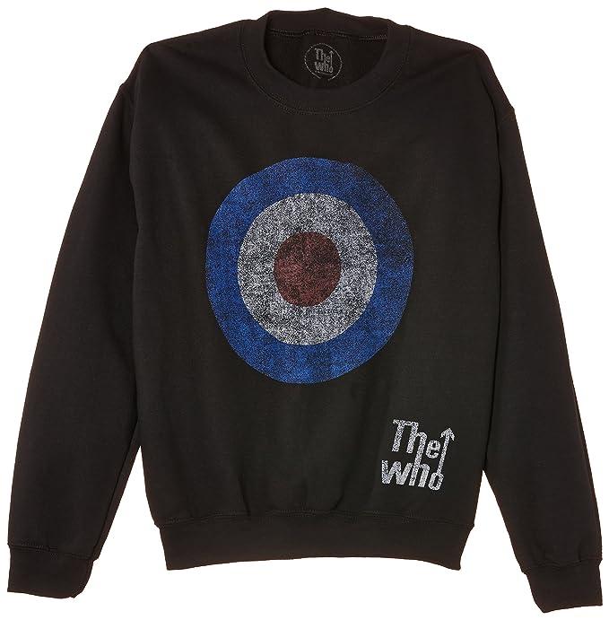 dfb0e0fd208c0 Amazon.com  Who Sweatshirt  Target Distressed (Medium) - Black - Medium   Clothing