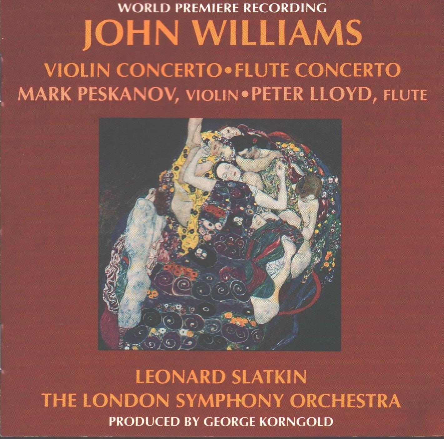 John Williams, Mark Peskanov, Peter Lloyd, Leonard Slatkin, The London  Symphony Orchestra - Violin Concerto / Flute Concerto - Amazon.com Music