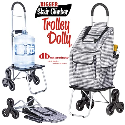 ba90f96ee305 Stair Climber Bigger Trolley Dolly Shopping Cart, Houndstooth