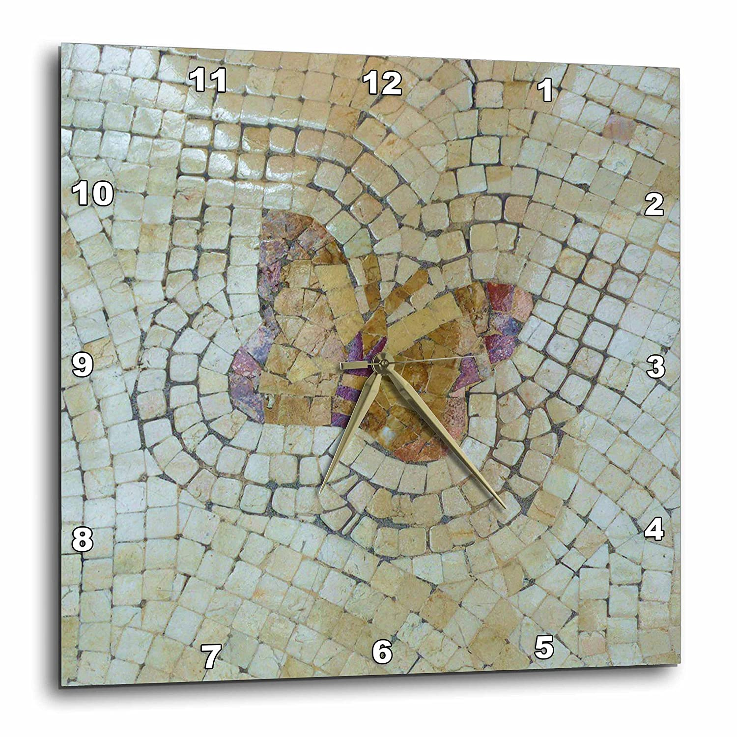 10 by 10-Inch 3dRose dpp/_52403/_1 Real Mosaic Butterfly Wall Clock
