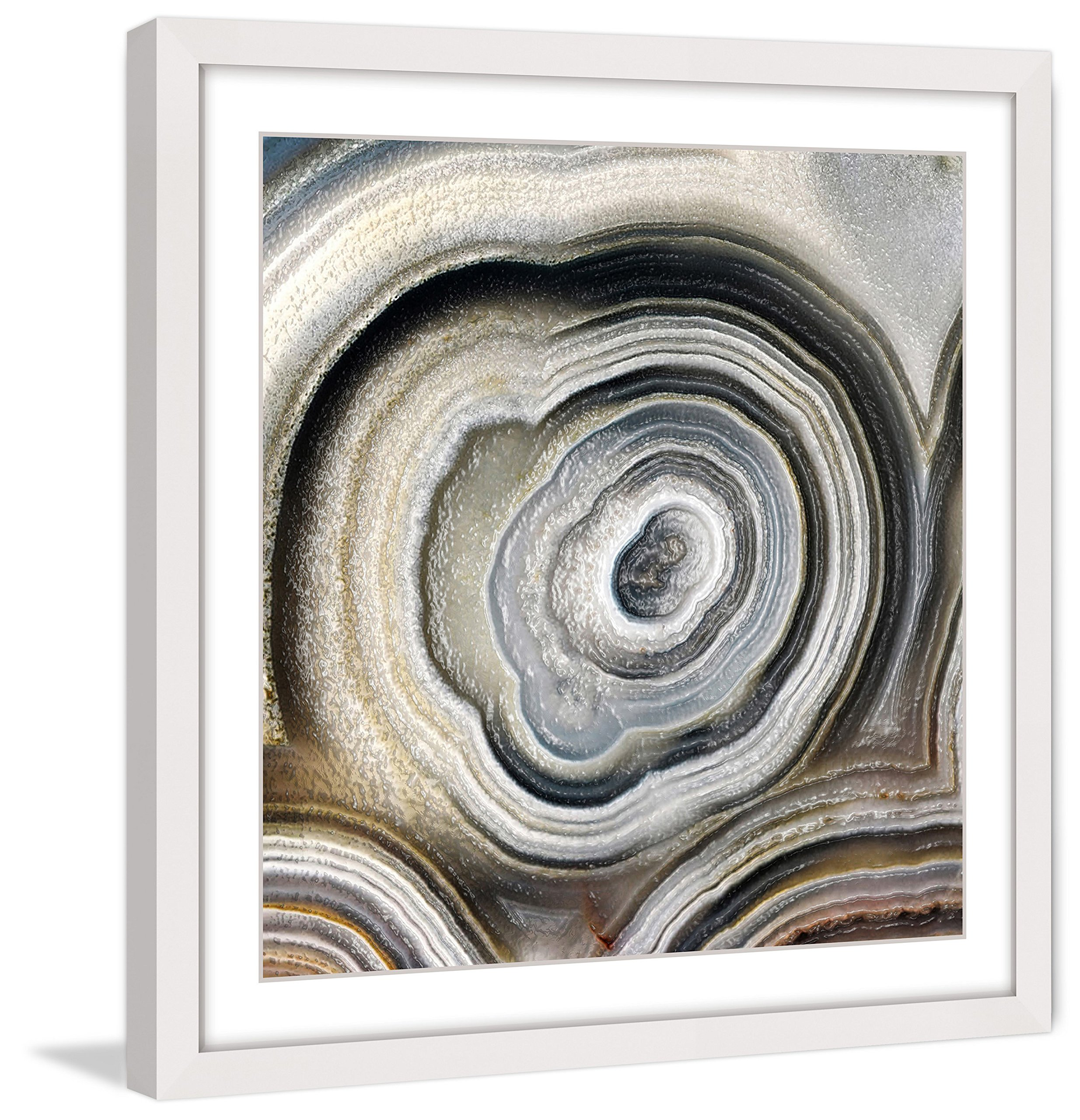 Marmont Hill MH-ABGEO-215-WFP-32 The Eye of The Geode Framed Painting Print,Multicolor,32x32 by Marmont Hill