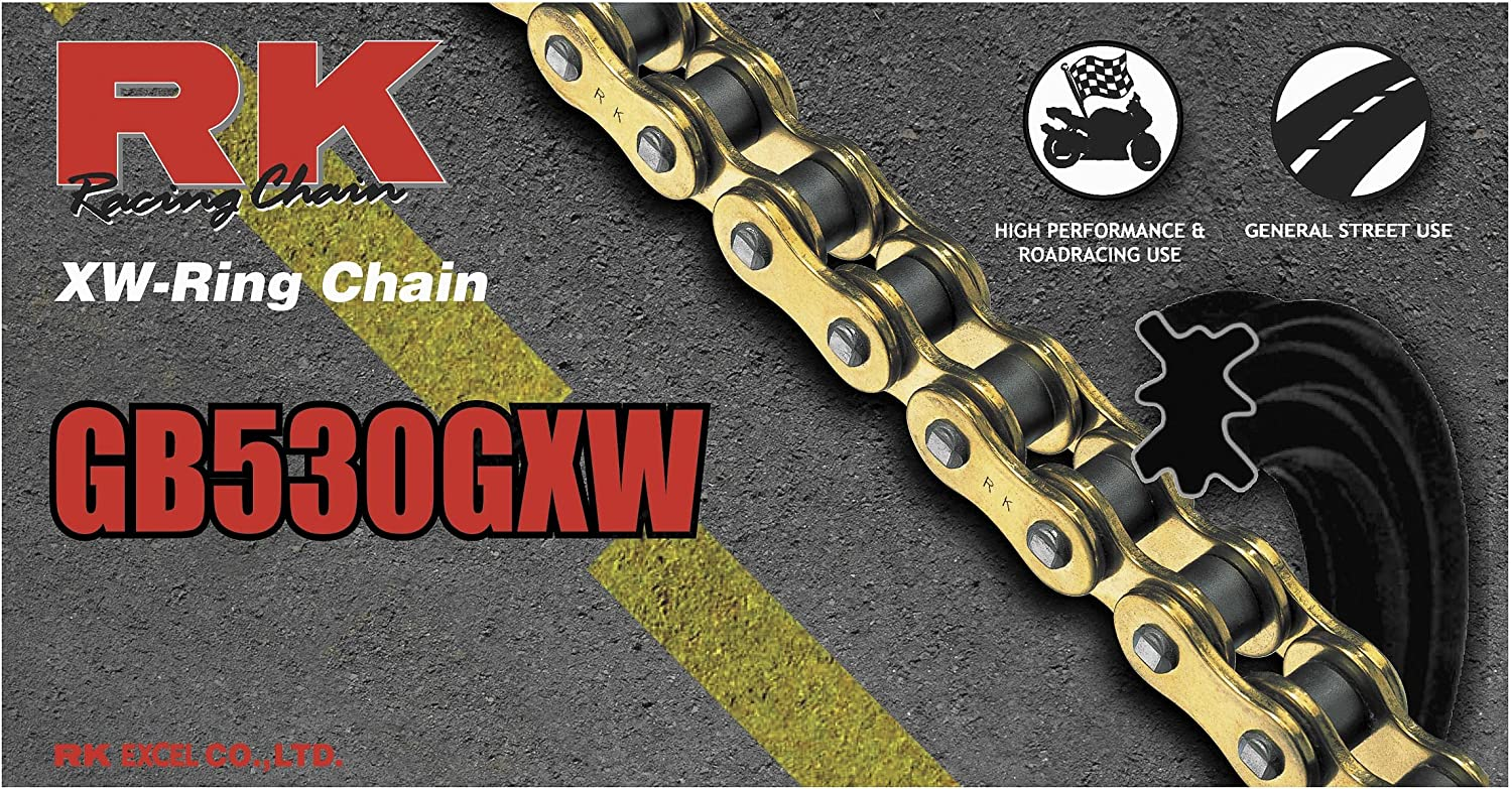 RK Racing Chain 530GXW-118 118-Links XW-Ring Chain with Connecting Link