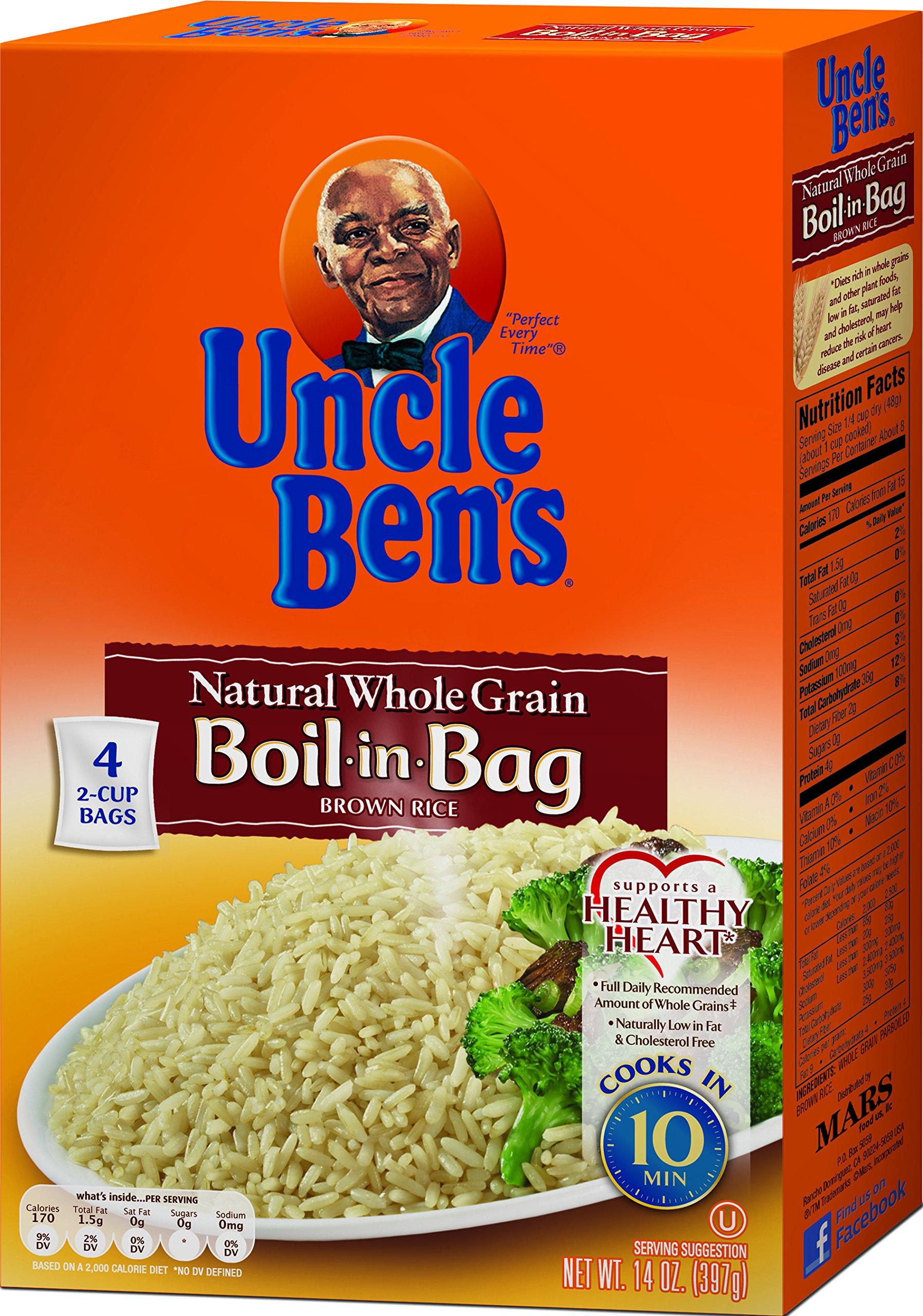 UNCLE BEN'S Boil-in-Bag Whole Grain Brown (12pk)