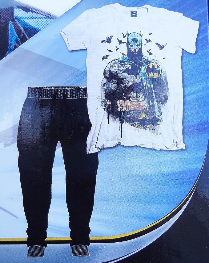 Para hombre pijama camiseta de manga corta y juego de pata Marvel Star Wars Batman Hombre Murcielago M: Amazon.es: Ropa y accesorios