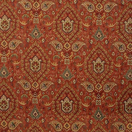 Amazon Com Spice Blue Orange Red Yellow Medallion Traditional Linen