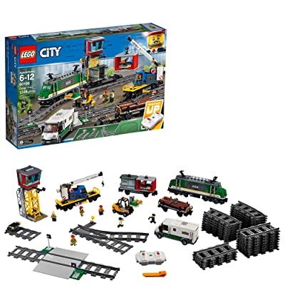 LEGO City Cargo Train 60198 Remote Control Train Building Set with Tracks for Kids(1226 Pieces): Toys & Games