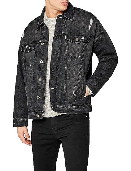 Urban Classic Men S Ripped Denim Jacket Amazon Co Uk Clothing