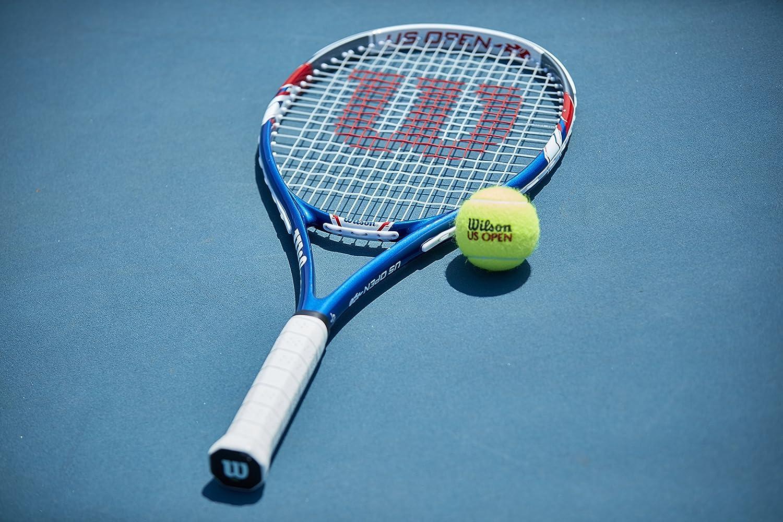 8e2f179a7 Amazon.com : Wilson US Open Strung Tennis Racquet, 4 1/4-Inch, Blue/Gray :  Sports & Outdoors