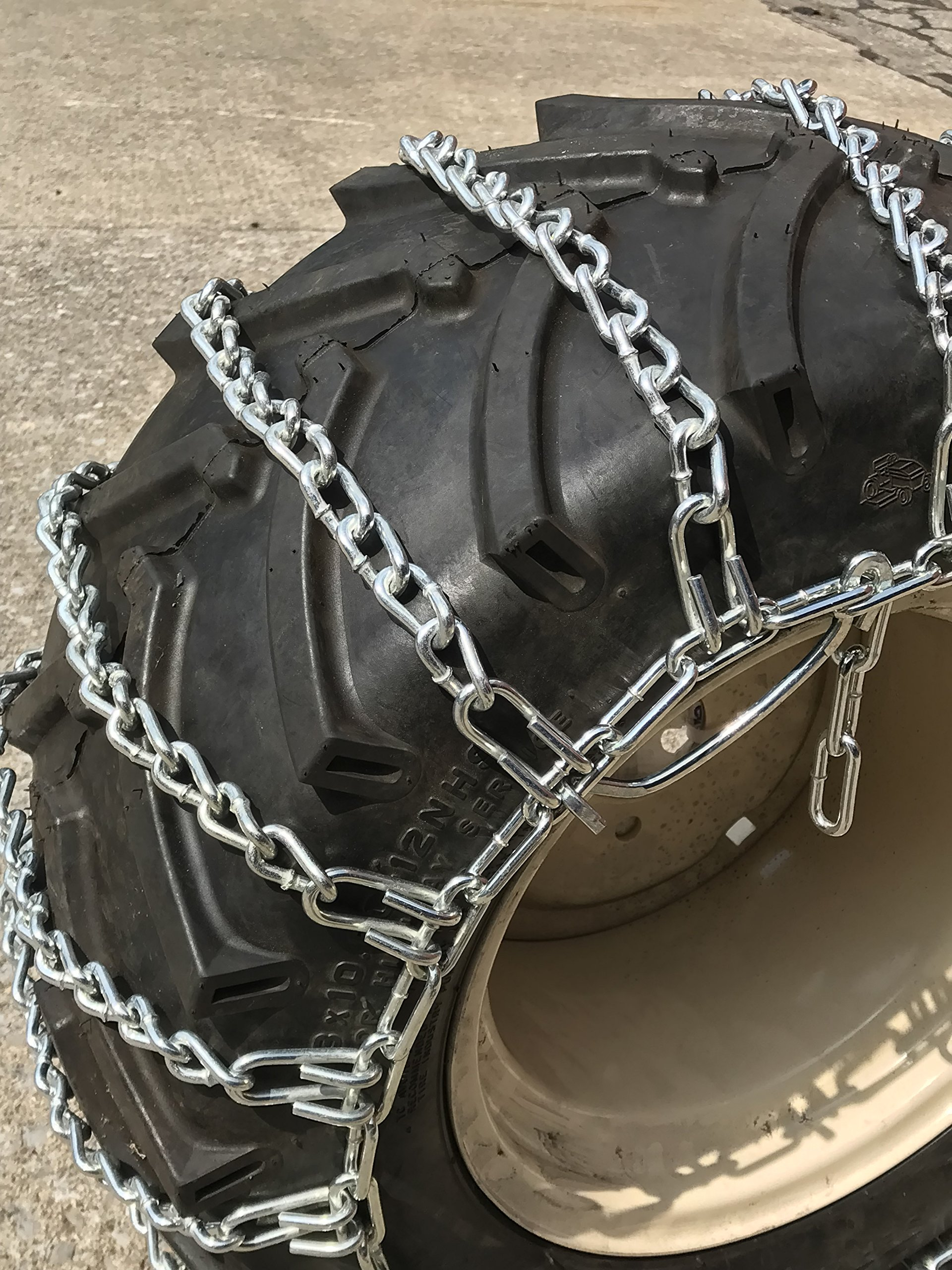 TireChain.com Heavy Duty, 2-link Lawn and Garden Tire Chains, Priced per pair. 23 X 9.50 X 12, 23 X 10.50 X 12 by TireChain.com (Image #3)