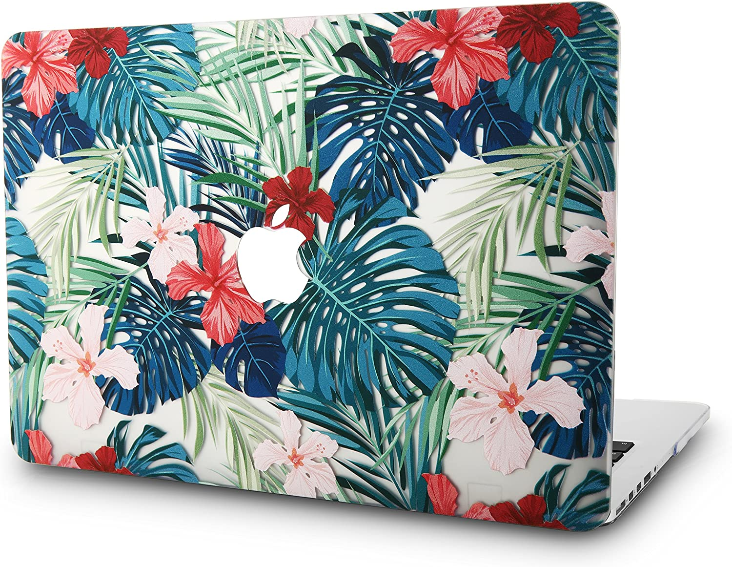 "KECC Laptop Case for Old MacBook Pro 13"" Retina (-2015) Plastic Case Hard Shell Cover A1502 / A1425 (Palm Leaves Red Flower)"