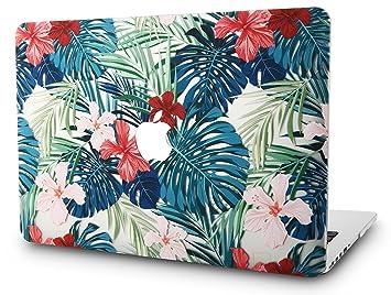 KECC MacBook Air 13 Pulgadas Funda Dura Case Cover MacBook Air 13.3 Ultra Delgado Plástico {A1466/A1369} (Flor Roja)