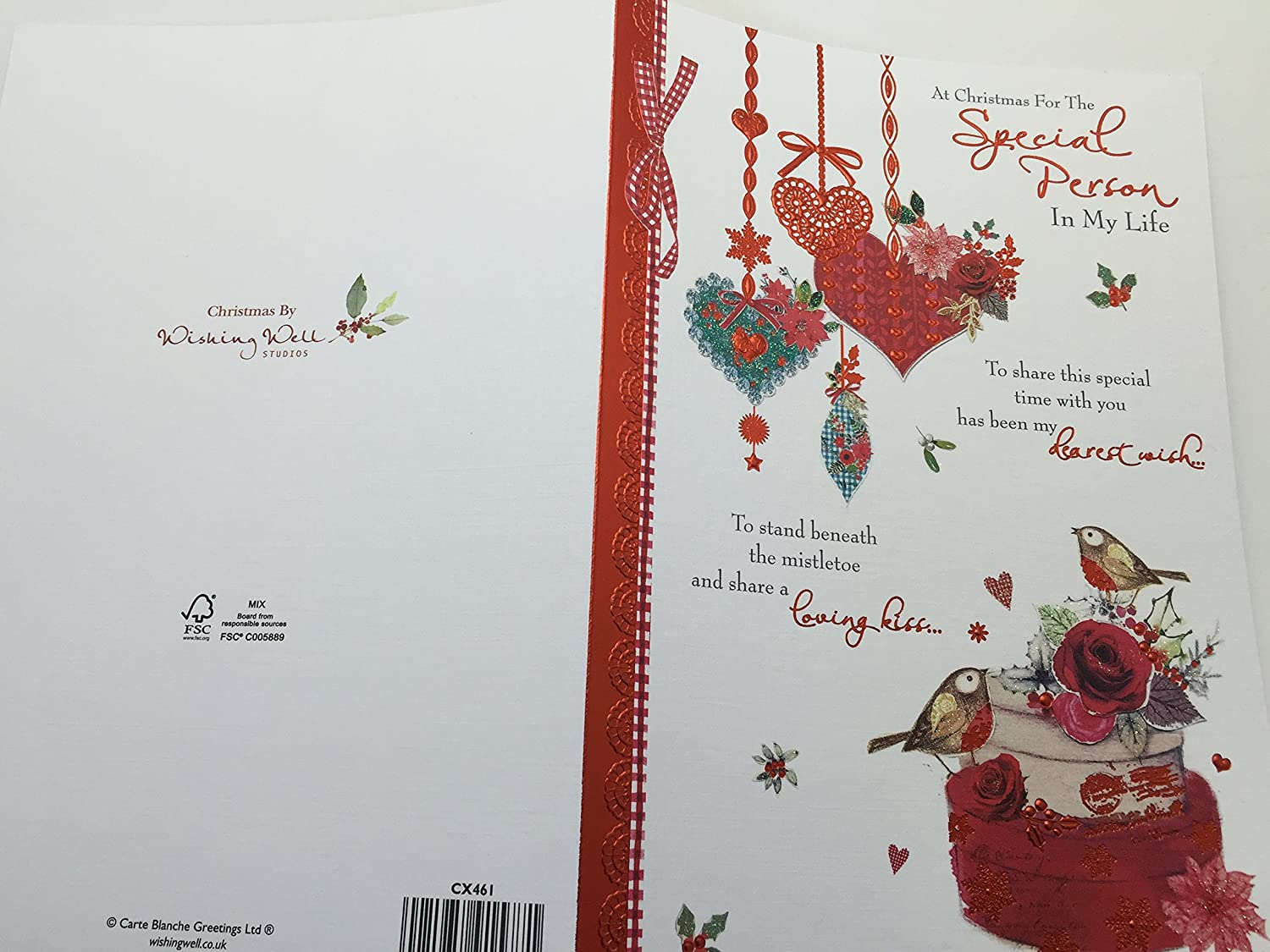 Amazon Com Fantastic Tradinational Special Person Christmas Card Love Someone Kitchen Dining