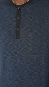 Theory Mens Front Snap Ringer Henley