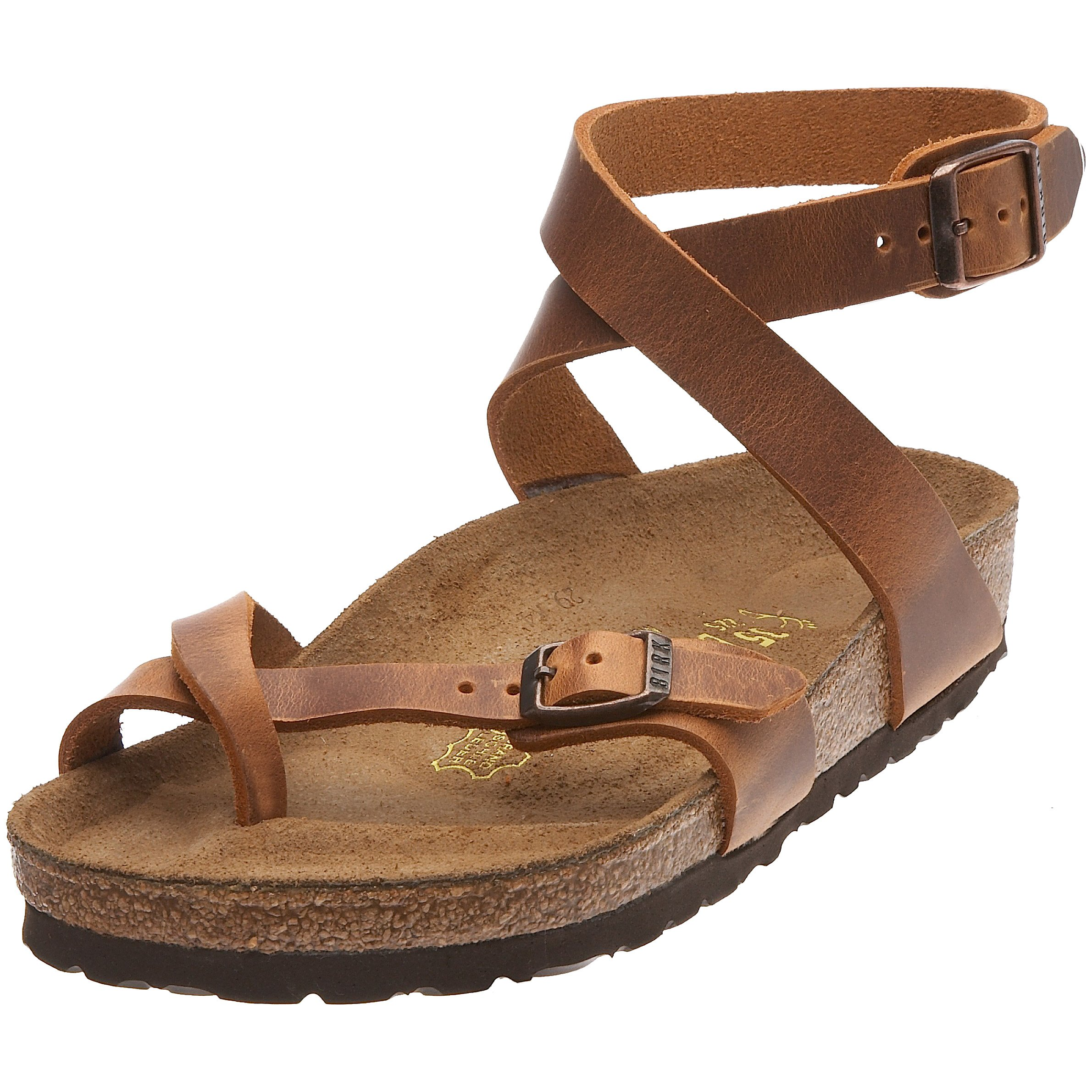 1df44e1e36f Galleon - Birkenstock Womens Yara In Antique Brown From Leather Thong 38.0 EU  N