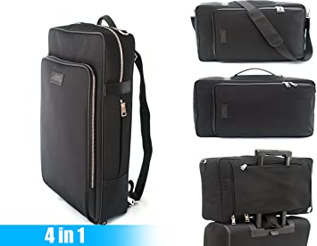 Amazon Com Lewis Leonard Gentleman S Backpack Professional Business Hybrid Backpack Briefcase Laptop Messenger Bag And Travel Carry On Waterproof Black Nylon Bag For Business School Work Or Traveling Computers Accessories