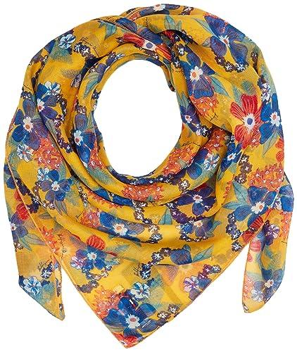 Hilfiger Denim Thdw Scarf 15, Sciarpa Donna, Multicolore (Pinto Print/Marigold), Taglia Unica (Tagli...