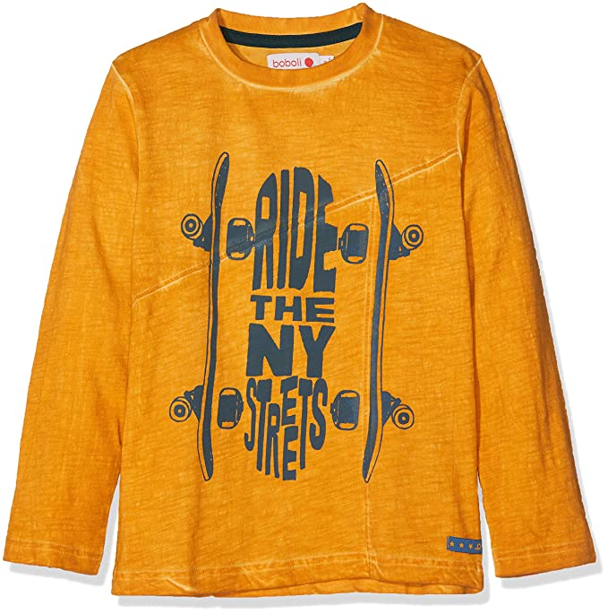 36bcdd245 boboli Knit T-Shirt Flame for Boy, Bambino: Amazon.it: Abbigliamento