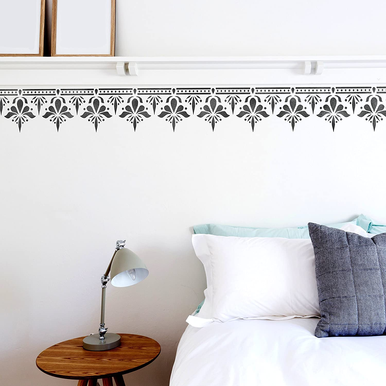 Sagar Border Wall Furniture Floor Stencil for Painting M