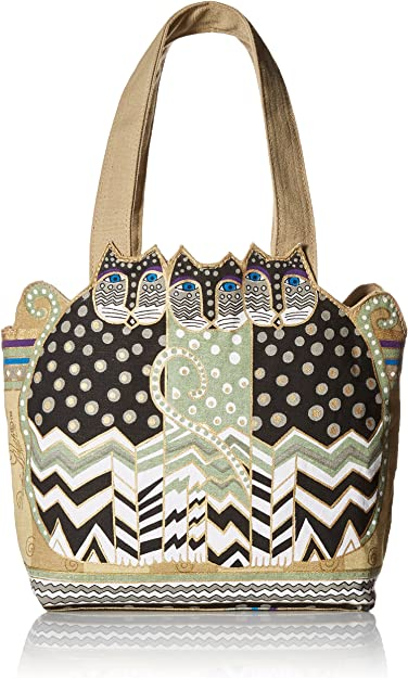 Laurel Burch Feline Cutout Design Medium Tote Bag NEW Fashion LB4102