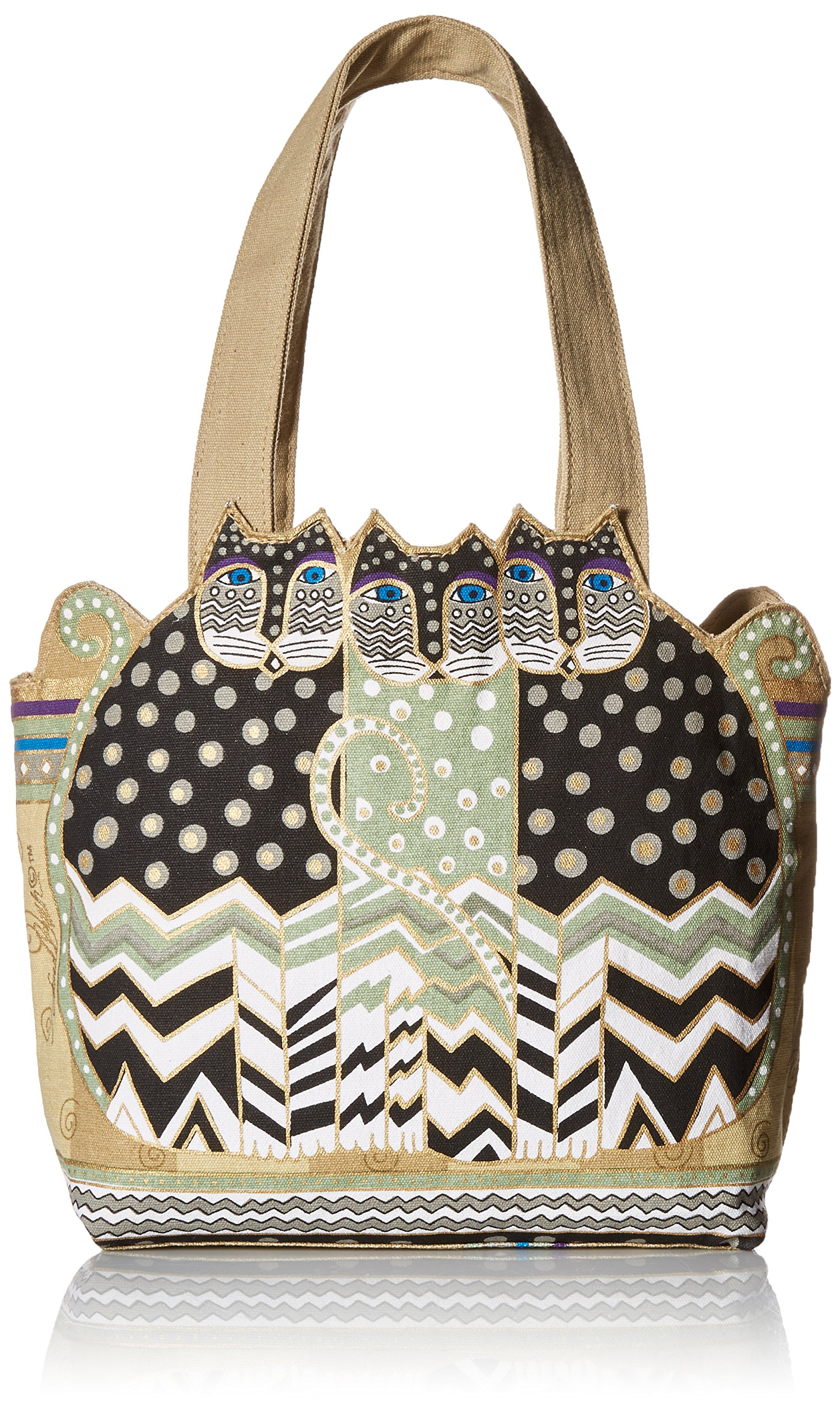 Laurel Burch TRES GATOS Polka Dot Medium Tote Bag