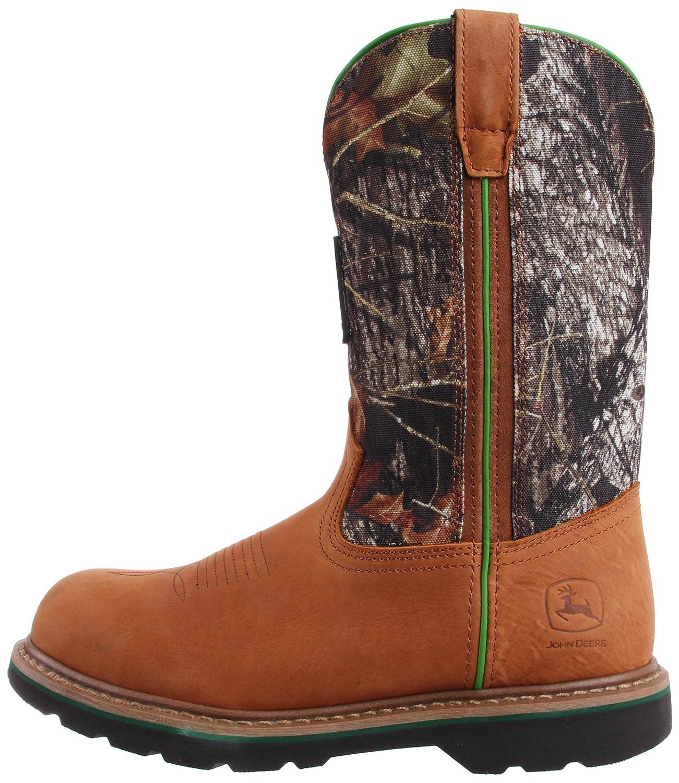 John Deere jd4348 Hombres de Trabajo Wellington Camuflaje Botas de Seguridad Puntera, Color Marrón, Talla 42,5 EU-M: Amazon.es: Zapatos y complementos