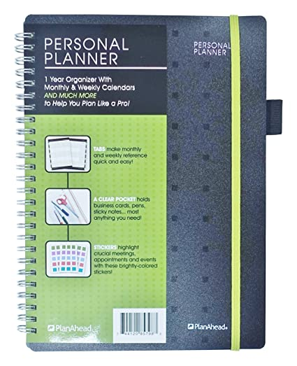 Amazon planahead ceo personal planner undated 1 year planahead ceo personal planner undated 1 year organizer with monthly and weekly calendars solutioingenieria Image collections