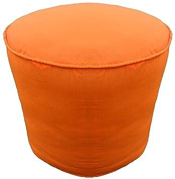 Orange round ottoman Creative Image Unavailable Amazoncom Amazoncom Saffron Round Footstool Ottoman Cover Pouffee 20