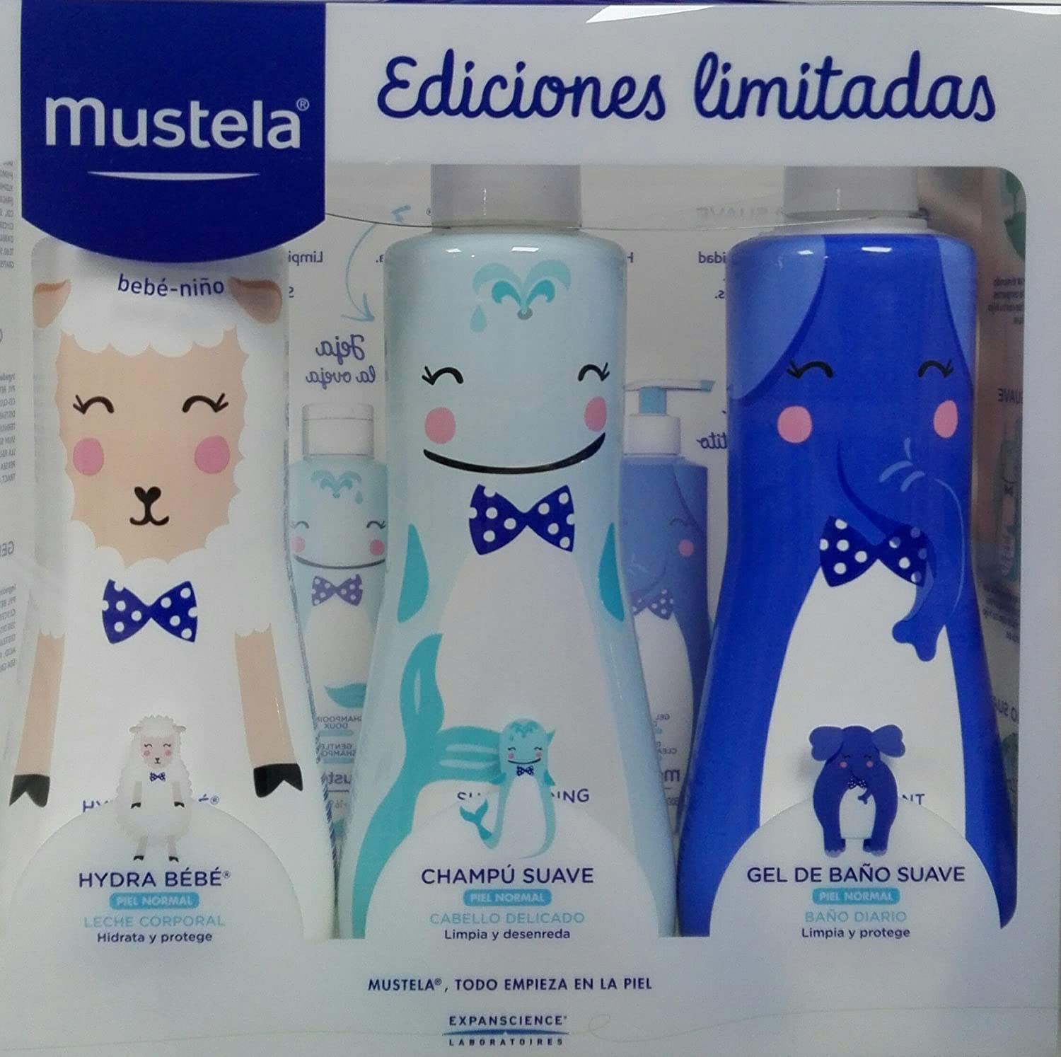 PACK MUSTELA EDICION LIMITADA (HYDRA BEBE 500ML+CHAMPU 500ML+GEL500ML): Amazon.es: Bebé