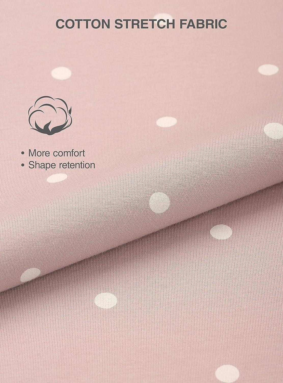 Pantaloncini di Cotone Raffinato per Casa Super Soft Resistente Antisudore Comodo Pacco da 2 Genuwin Pigiama Pantaloni Corti a Righe per Donna Design Elegante Femminile
