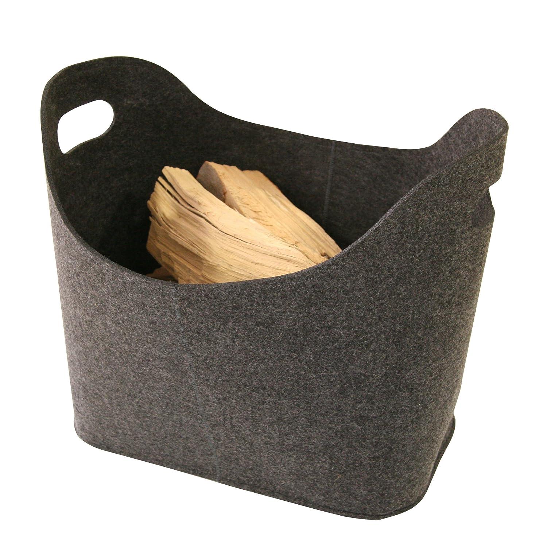 Black Kamino-Flam 339503 Felt Basket 39x22x39 cm